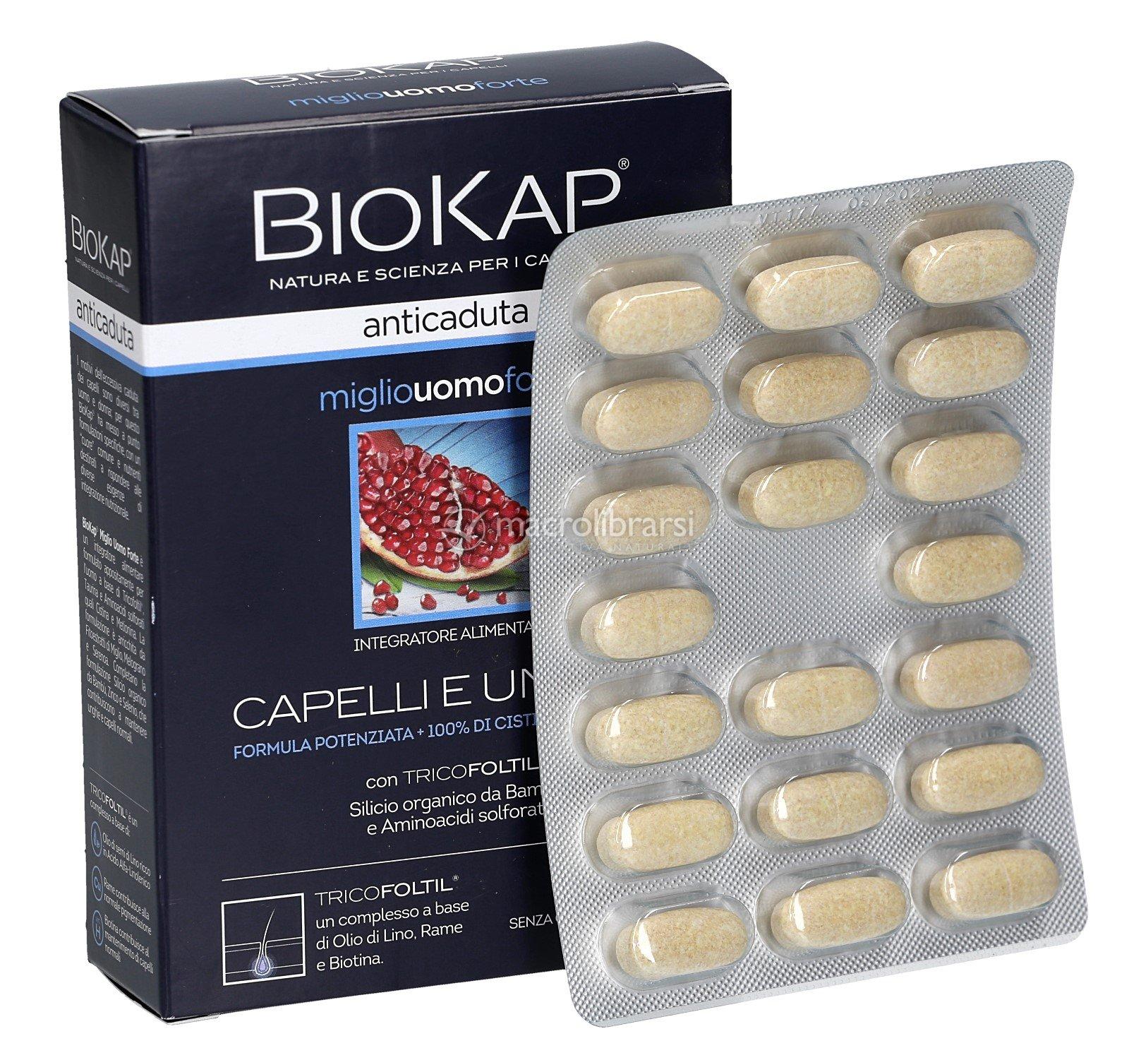 Biokap - Capelli e Unghie - Integratore Uomo al Miglio in ...
