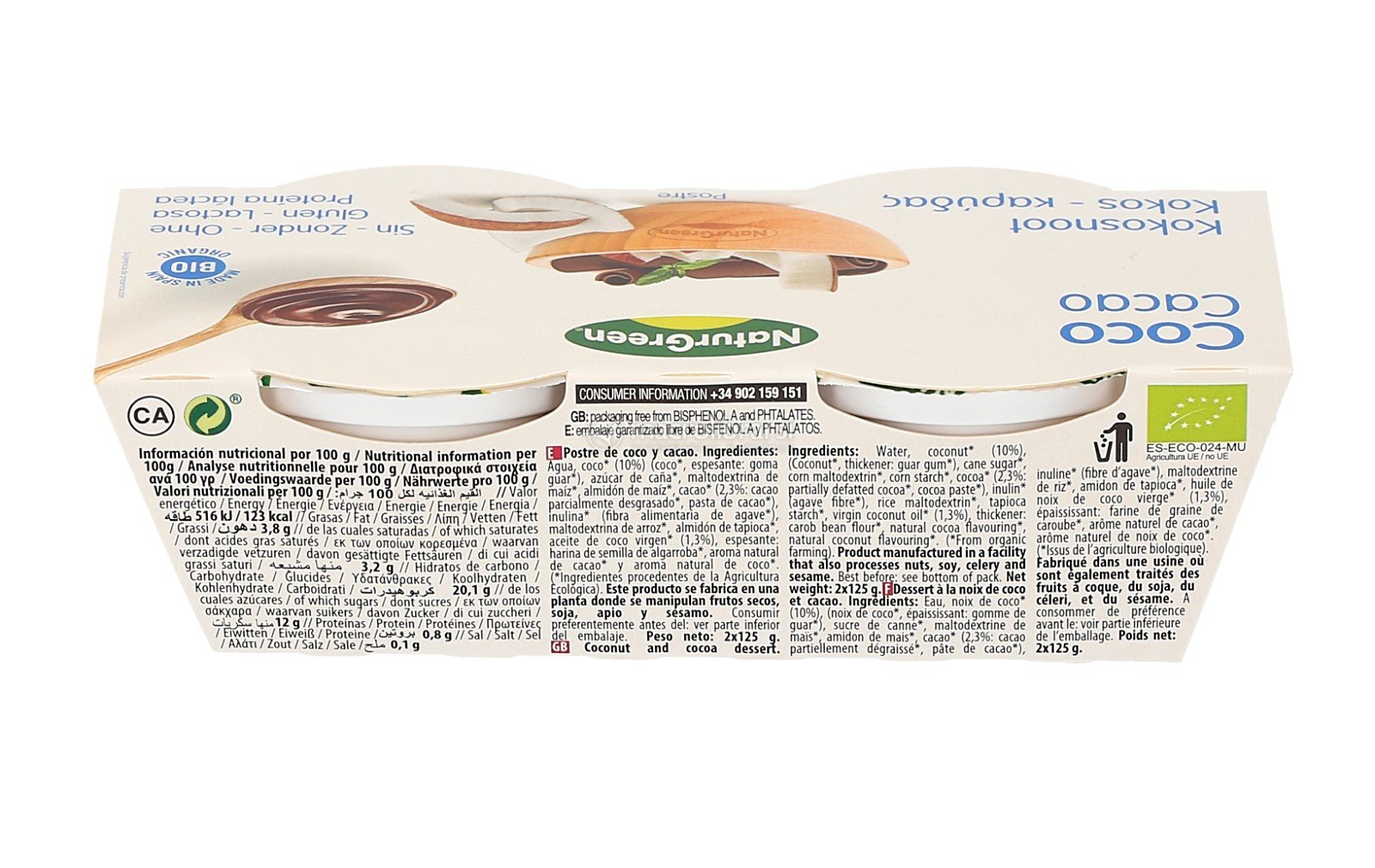 coco cacao dessert cremoso budino al cocco e cioccolato prezzo 3 00 ...