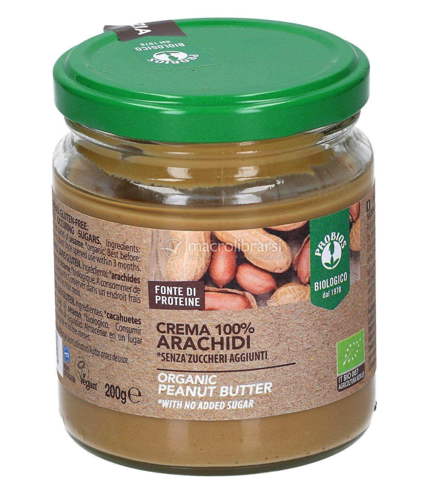 Crema Di Arachidi 100 Di Probios Alimenti Macrolibrarsi It