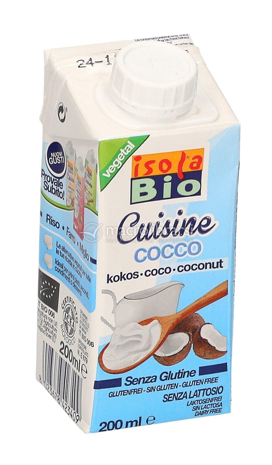 crema da cucina di cocco - isola bio - Panna Da Cucina Senza Glutine