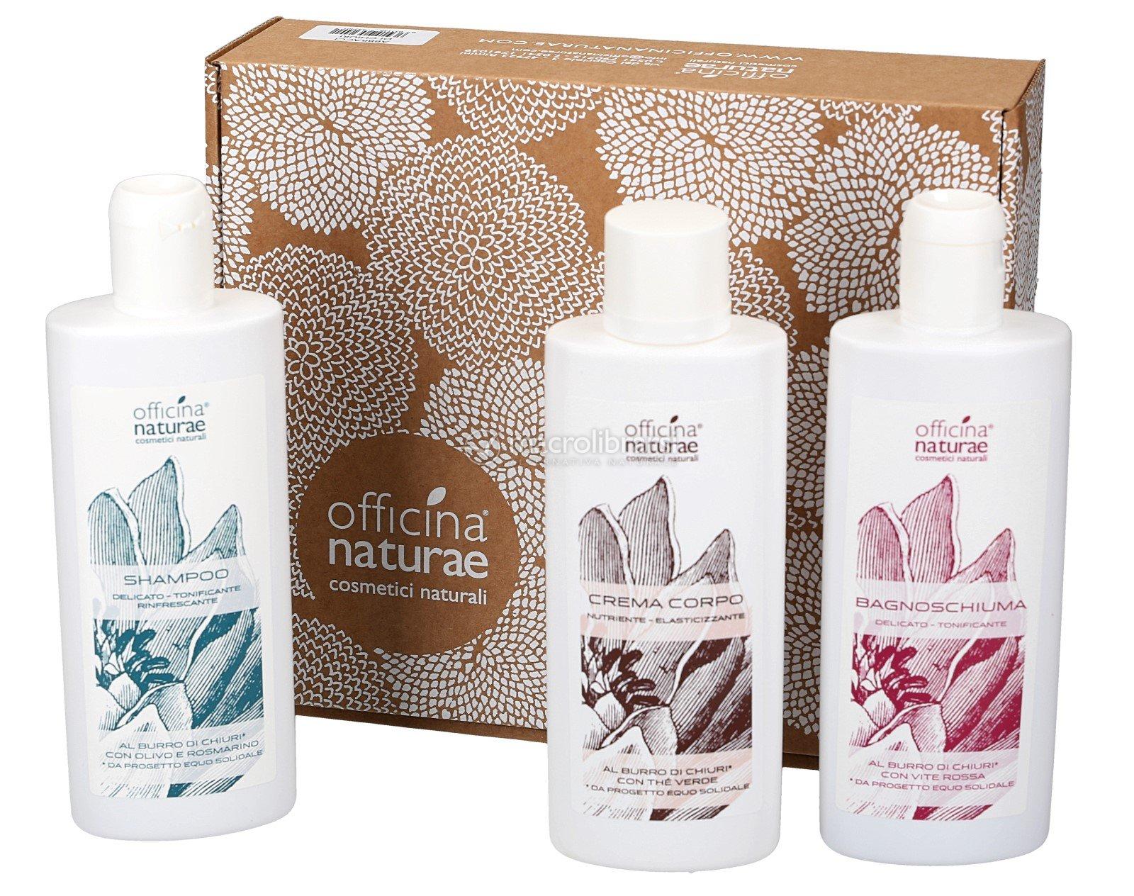 Bagnoschiuma Naturale : Gift box abbracci di chiuri crema corpo bagnoschiuma shampoo