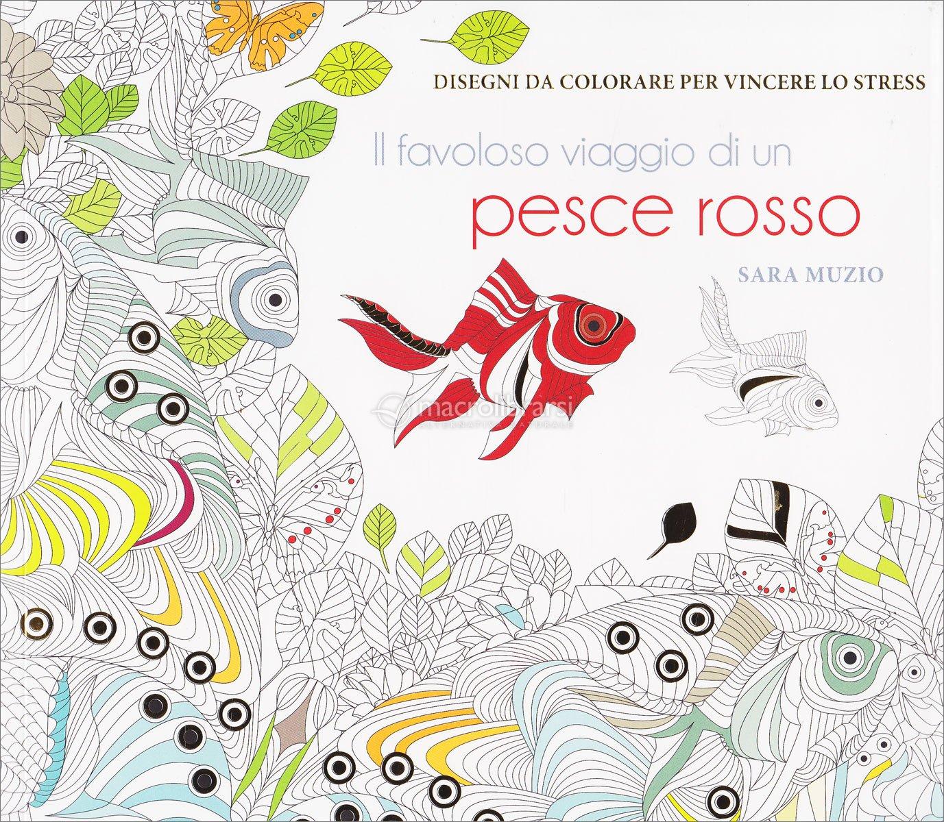Il favoloso viaggio di un pesce rosso disegni da for Immagini da colorare di pesci