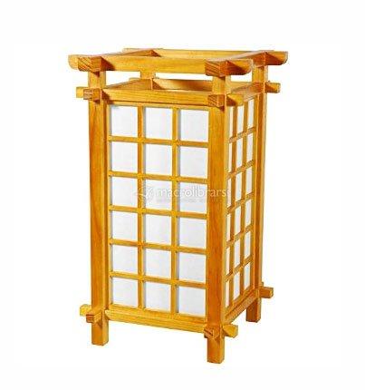 Lampada giapponese in legno rettangolare fonix living for Legno giapponese
