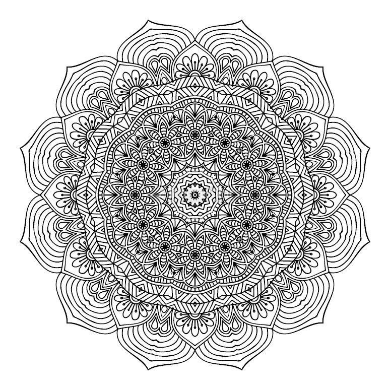 L 39 energia dei mandala for Disegni di mandala semplici