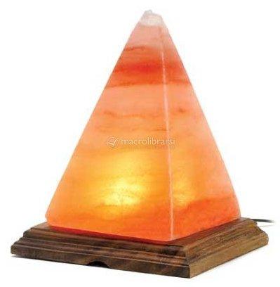 Lampada di sale himalaya forma piramide bio luce for Lampada sale himalaya