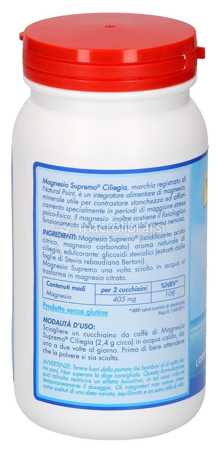 Magnesio Supremo Gusto Ciliegia Di Natural Point Macrolibrarsi It
