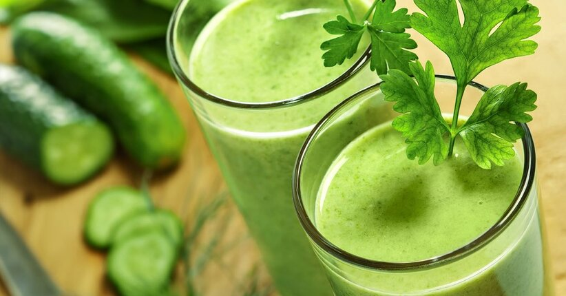 10 frullati verdi per la tua gola e la tua salute!