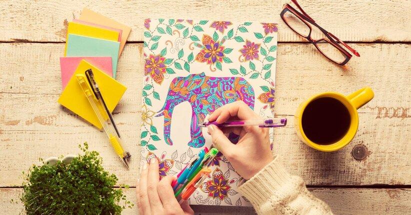Art therapy che cosa sono i libri da colorare per adulti - Stampare pagine da colorare ...