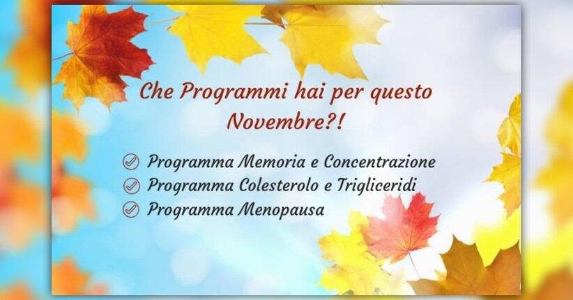 Che programmi hai per questo Novembre?