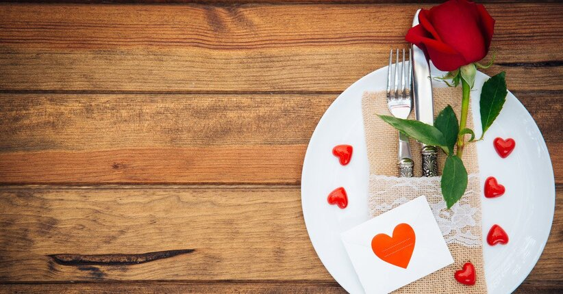 Menu per una cena romantica a S. Valentino
