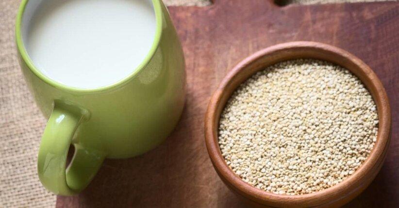 Bevanda vegetale a base di quinoa fatta in casa