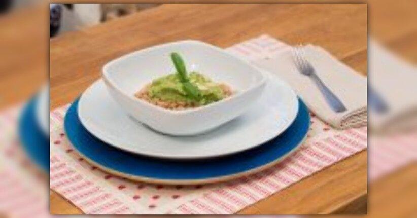 """Orzo mondo con pesto di zucchine e basilico - estratto da """"L'Apprendista Macrobiotico"""""""