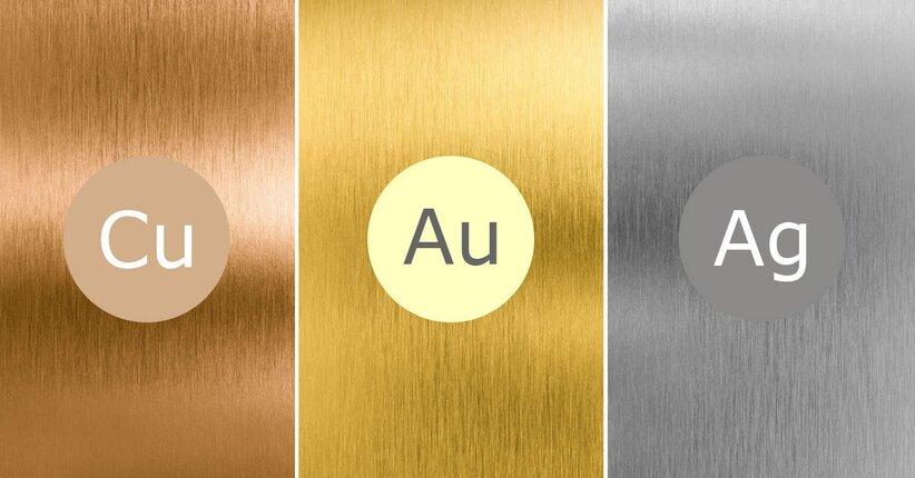 Recupera energia con oro rame e argento