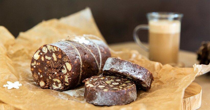Salame di cioccolata proteico e senza grassi: la mia ricetta