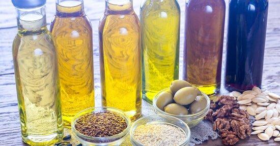 Olio di canapa, olio di zucca e olio di riso