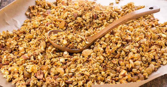 Golden granola home made