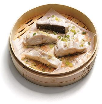 cestello per cottura a vapore in bambù - 2 strati - equamente - Cucina Vapore