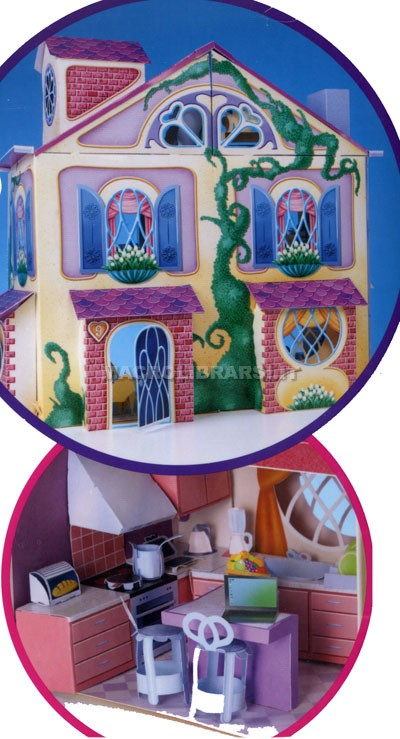La mia casa delle bambole da costruire e arredare for Casa mia arredamenti