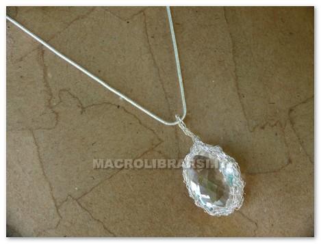 Lampada Cristallo Di Rocca Proprietà : Pendente in cristallo di rocca ovale facet cod 201 di le pietre di