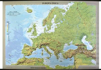Cartina Europa Orientale Fisica.Europa Fisica E Politica Libro