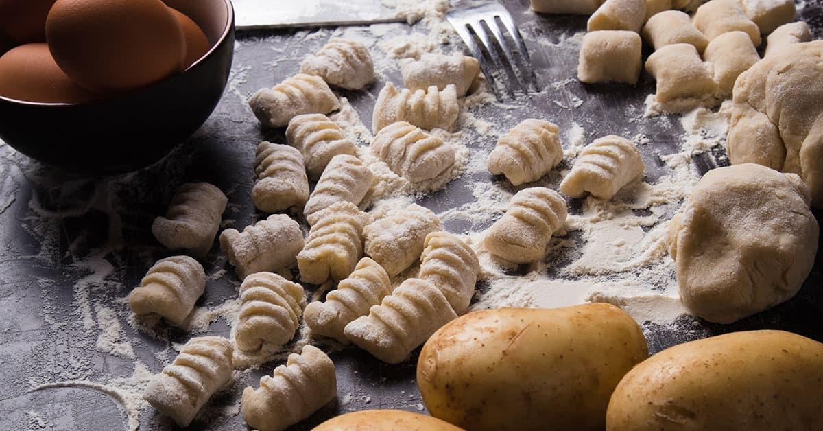 Gnocchi di patate integrali fatti in casa
