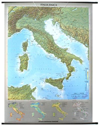 Cartina Italia Politica Aggiornata.Italia Fisica E Politica Libro