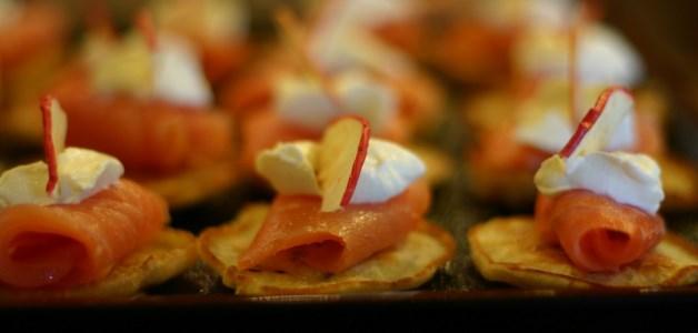 Millefoglie mele e salmone