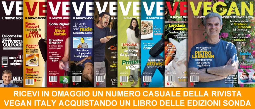 Acquista un libro delle Edizioni Sonda e ricevi in omaggio una copia della rivista  VEGAN ITALY (un numero casuale dal 2 al 5)