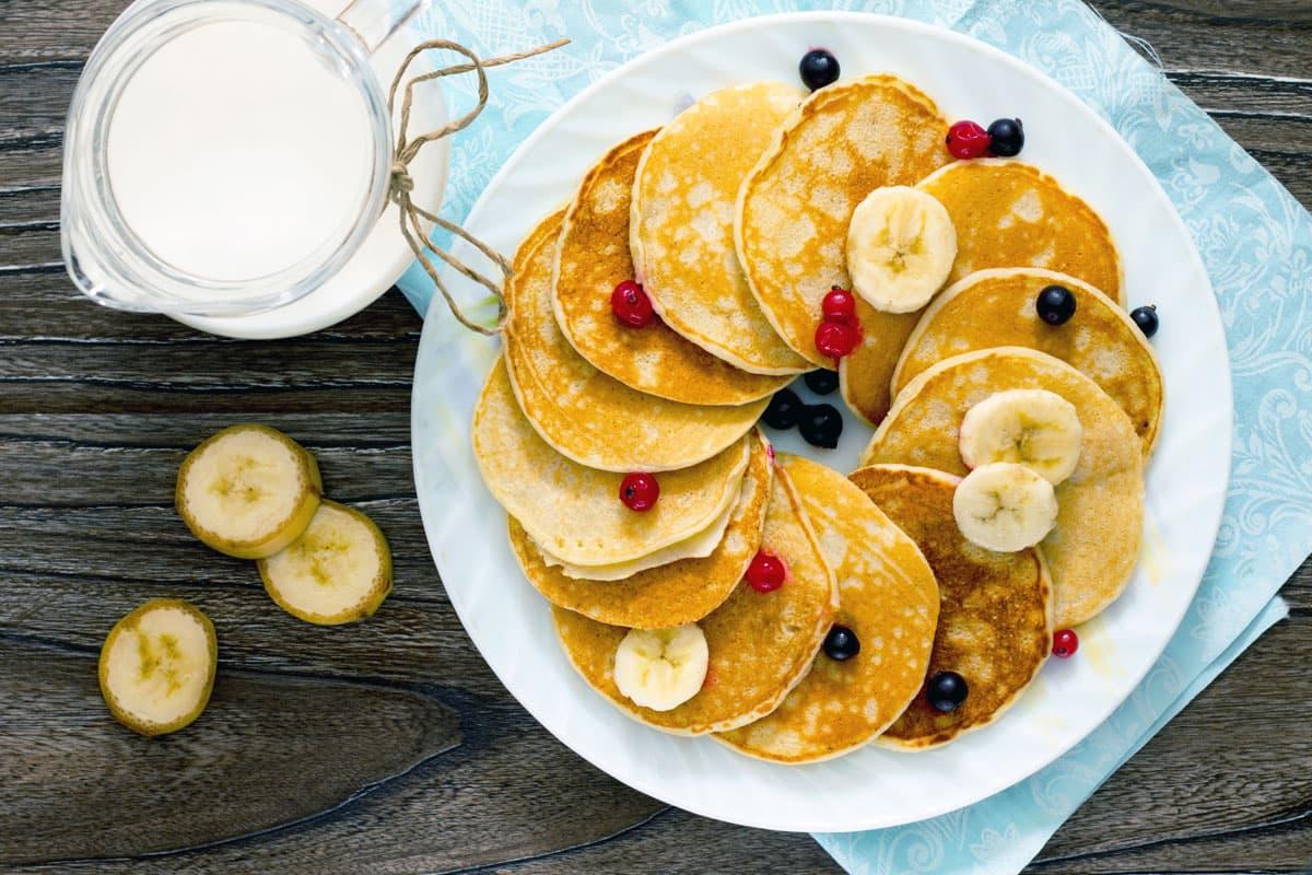 Pancake con latte di avena e banana