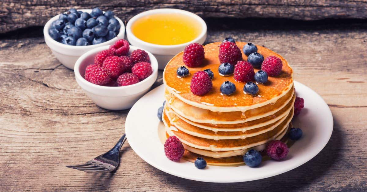 Pancake dolci al latte di soia