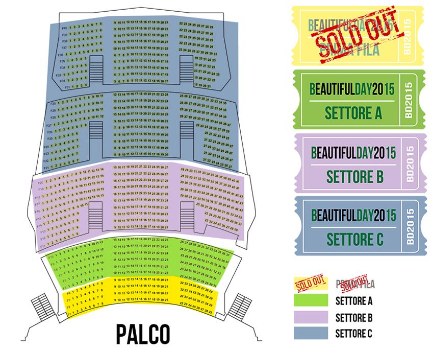 Beautiful day 2015 a milano for Auditorium parco della musica sala santa cecilia posti migliori