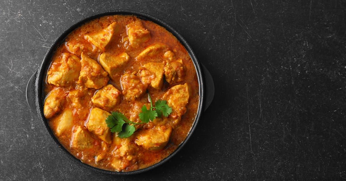 Pollo al curry e latte di soia