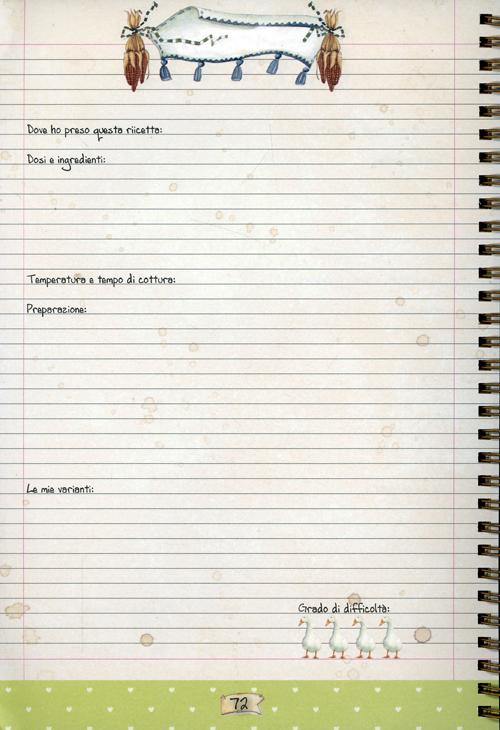 Libro per scrivere ricette