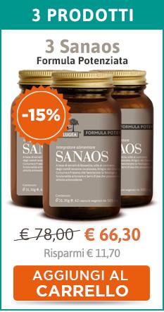 3 confezioni di Sanaos Formula Potenziata 100% Naturale (sconto 15%)