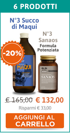 3 confezioni di Sanaos Formula Potenziata + 3 confezioni di Succo di Maqui (sconto 20%)