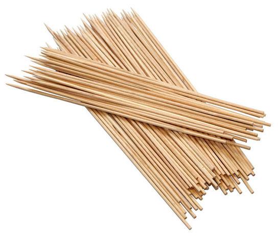 100 spiedini in legno
