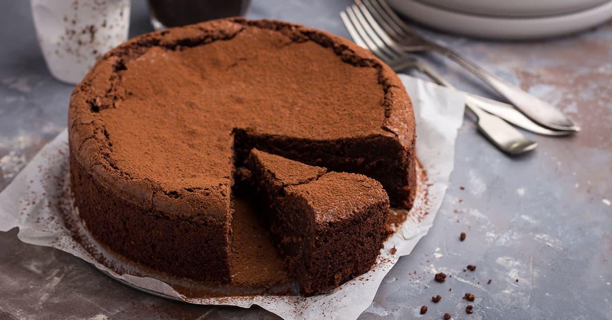 Torta di orzo al caffè e cioccolato