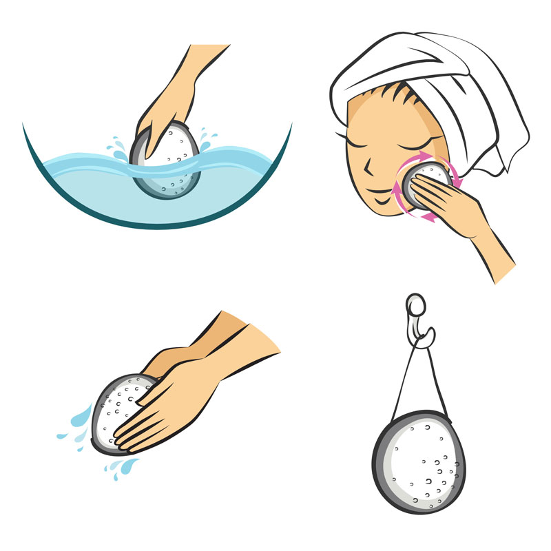 Come usare la spugna di konjac