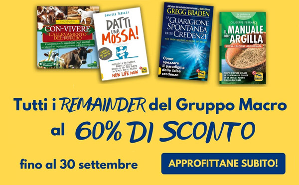 Remainder Macro 60% di sconto
