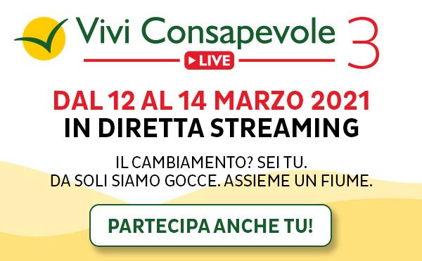 Vivi Consapevole Live III: dal 12 al 14 Marzo 2021 in diretta streaming