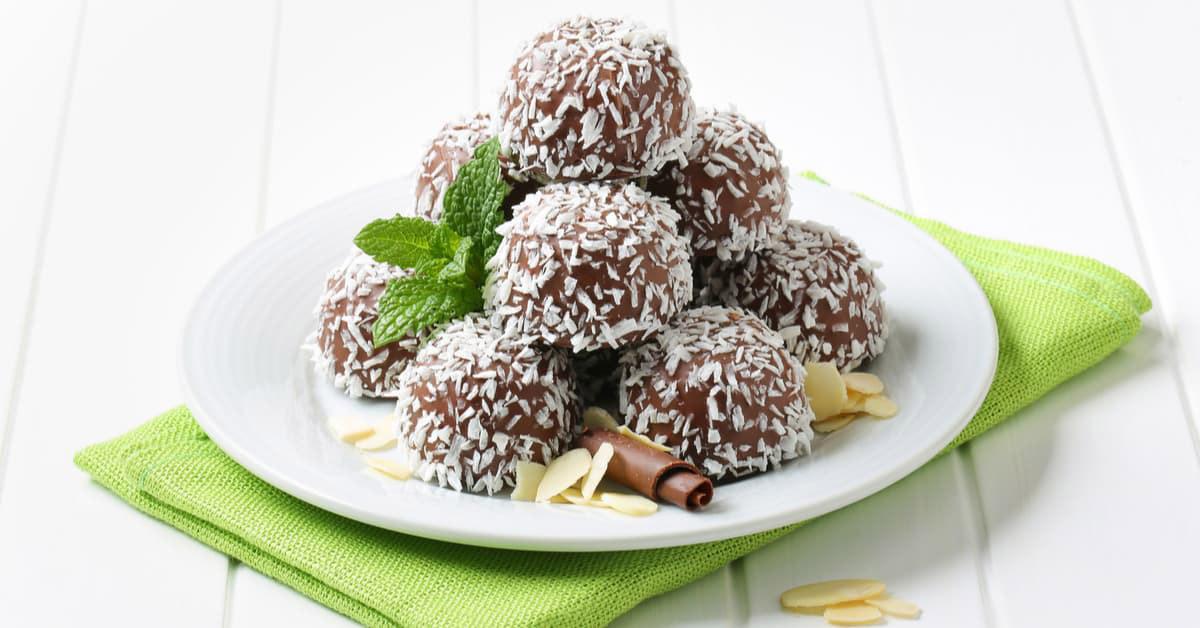 Dolcetti al cocco e cioccolato