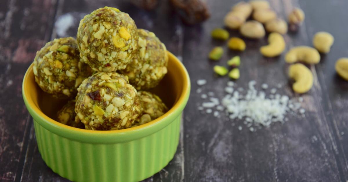Energy balls con pistacchi